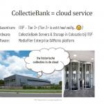 Collectiebank = cloud service